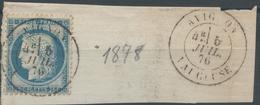 Lot N°52979  N°60/fragment, Oblit Cachet à Date De Avignon, Vaucluse (86) - 1871-1875 Ceres