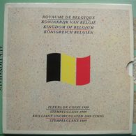 LaZooRo: Belgium FDC Set 1989 50 Centimes - 50 Francs 10 Coins Scarce - Uncirculated