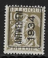 Antwerpen 1934 Nr. 283A - Préoblitérés