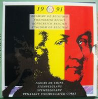 LaZooRo: Belgium FDC Set 1991 50 Centimes - 50 Francs 10 Coins Scarce - Uncirculated