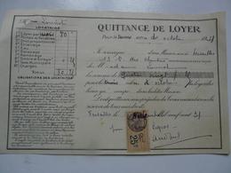 VIEUX PAPIERS - QUITTANCE DE LOYER - Mme LOUVIOT Locataire - Rue Des Chantiers - Octobre 1931 - Versailles - 1900 – 1949