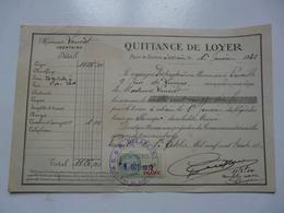 VIEUX PAPIERS - QUITTANCE DE LOYER - Mme LOUVIOT Locataire - Rue De Limoges - Janvier 1932 - Versailles - Francia