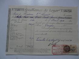 VIEUX PAPIERS - QUITTANCE DE LOYER - Mme LOUVIOT Locataire - Rue Dangeau- Avril 1931 - Versailles - Francia