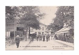 La Varenne-Chennevières, La Gare, éd. I. P. M., Collection Schmitt, Terrasse De Café (Saint-Maur-des-Fossés) - Saint Maur Des Fosses