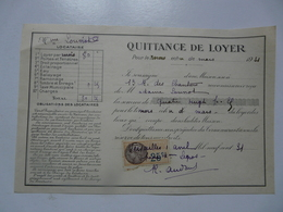 VIEUX PAPIERS - QUITTANCE DE LOYER - Mme LOUVIOT Locataire - Rue Des Chantiers - Mars 1931 - Versailles - Francia