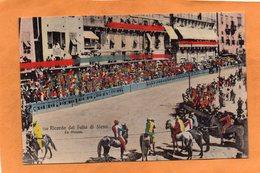 Ricordo Del Palio Di Siena Italy 1906 Postcard - Siena