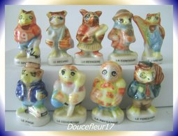 Chouettes 1997 ... 9 Fèves .. Ref AFF : 71-1997...(pan 003) - Animaux