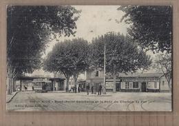CPA 06 - NICE - Rond-Point Gambetta Et Le Pont Du Chemin De Fer - TB PLAN TRAMWAY Place ANIMATION MAGASINS Café - Nizza