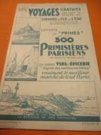 Dépliant Pub/Voyages Gratuits/Ch.de Fer De L'Etat/Autocars/Honfleur-Trouville-Deauville/Primes/Primistéres/1931 TCK189 - Railway