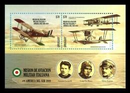 Uruguay 2019 Mih. 3678/79 (Bl.151) World War I. Italian Military Aviation Mission In South America MNH ** - Uruguay