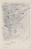 CETTE SETE Plan De La Ville - Sete (Cette)