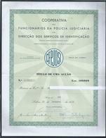 Titulo De 1 Acção Da Cooperativa Da Polícia Judiciária De 1959. Portugal. Title 1 Action Of Judicial Police Cooperative - Actions & Titres