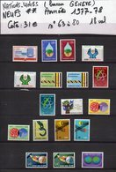 ONU--NATIONS-UNIES--bureau De Genève--années 1977-78  Complètes-NEUFS ** N°63 à 80 --cote 31€.......à Saisir - UNO