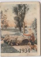 1934 Calendrier De Poche Offert Par La Crème Eclipse ( Moutons) - Petit Format : 1921-40