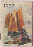 1937 Calendrier De Poche Offert Par La Crème Eclipse Illustré Par Grosjean - Petit Format : 1921-40