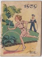 1939 Calendrier De Poche Offert Par La Crème Eclipse Illustré Par Edouard Bernard ( Enfants Jeu Cerceau ) - Petit Format : 1921-40