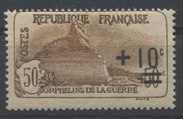 RC 15776 FRANCE N° 167 COTE 65€ ORPHELIN SURCHARGÉ NEUF ** MNH TB - Ungebraucht