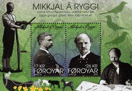 Faroe Islands - 2020 - Mikkjal A Ryggi, Faroe Poet And Composer - Mint Souvenir Sheet - Faeroër