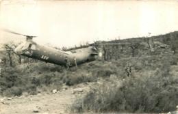 HELICOPTERE ET SOLDATS PHOTO FORMAT CPA - Hélicoptères