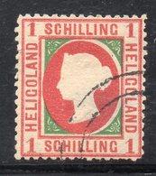 T551 - HELIGOLAND 1869 : 1 Shilling N. 8 Usato (M2200) Forti Trasparenze - Heligoland