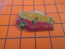 210c Pin's Pins / Beau Et Rare  / THEME AUTOMOBILES : CHEVROLET CORVETTE JAUNE 1960 - Corvette