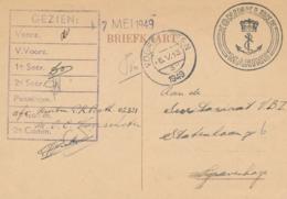 Nederland - 1949 - Briefkaart - Stempel Koninklijke Marine - Van Voorschoten Naar Den Haag - 1949-1980 (Juliana)