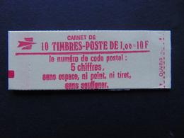 Carnet N°. 1972-C2 Sabine à 1,00 X 10 Code Postal - Usage Courant
