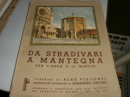LIBRO DA STRADIVARI A MANTEGNA FRA L'ADDA E IL MINCIO ITINERARI DI ALEX VISCONTI IMPRESSIONI PITTORICHE DI GIANNINO GROS - Arts, Antiquity