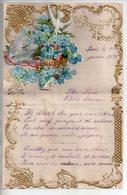 REF 7 : Courrier Illustré Par Découpis à Système 1937 Ancien Fleurs Hirondelles - Flowers