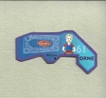 """Magnets. Magnets """"Le Gaulois"""" Départements Français. L'Orne (61) - Publicitaires"""