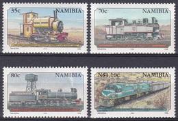 Namibia Südwestafrika SWA 1995 Transport Eisenbahnen Railways Lokomotiven Trains Diesel Tender Kerr Stuart, Mi. 784-7 ** - Namibia (1990- ...)