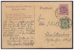 Dt.- Reich (006840) Privatganzsache Fech PP69 C1, Strahlsund, Nedderdütsch Woch Gelaufen Mit Zusatz Frankatur - Ganzsachen