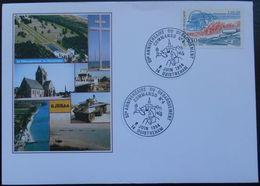 O73 Cachet Temporaire Ouistreham 14 Calvados 50 Anniversaire Du Débarquement Commando 4 6 Juin 1994 - Marcophilie (Lettres)