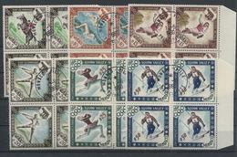 RC 15800 MONACO N° 532 / 537 COTE 32€ JEUX OLYMPIQUES DE SQUAW VALLEY BLOCS DE 4 NEUFS ET OBLITÉRÉS TB - Winter 1960: Squaw Valley