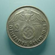Germany 2 Mark 1938 B Silver - [ 4] 1933-1945 : Troisième Reich
