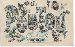 L100F053 - Un Poutou De Gavarnie - En Costumes Traditionnels Dans Les Lettres De Gavarnie - Labouche Frères N°74 - France