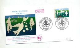 Lettre Fdc 1991 Cholet Philex Jeunes - FDC