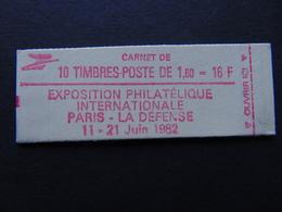 Carnet N°. 2187-C2 Liberté De Delacroix à 1,60 X 10 Exposition Philatélique Paris - Usage Courant