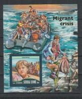 C965. Sierra Leone MNH - 2016 - Historie - Migrants Crisis - Bl - Briefmarken