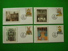 4 FDC's Op Zijde - Souvenir Cards