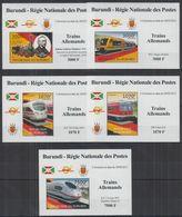 G748. Burundi - MNH - Transport - Trains - German - Deluxe - Ohne Zuordnung