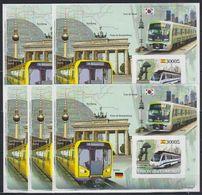 V964. 5x Comores - MNH - Transport - Trains - Imperf - 2008 - Bl. - Eisenbahnen