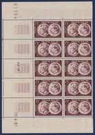 RC 15807 MONACO N° 352 COTE 135€ ACADEMIE GONCOURT BLOC DE 10EX COIN DATÉ NEUF ** MNH TB - Unused Stamps