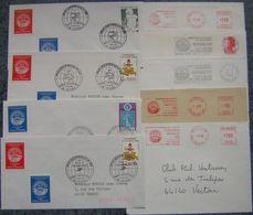 France 1982 Lot De 33 Documents Divers PHILEXFRANCE82 - Bureaux Temporaires, EMA, Flammes, Lisa Peu Lisible, Vignettes - Postmark Collection (Covers)