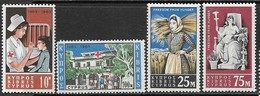 Cyprus   1963    Sc#222-3 FAO Set, 227-8   Red Cross Set  MH   2016 Scott Value $8 - Unused Stamps