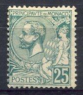 RC 15808 MONACO N° 16 COTE 350€ - 25c PRINCE ALBERT 1er NEUF * MH ( VOIR DESCRIPTION ) - Nuovi