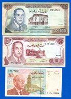 Maroc  3  Billets  Ttb + - Marokko