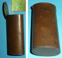 Ancienne Boite Pyrogène En Métal SA Déposé - Mecheros (Pyrogenes)