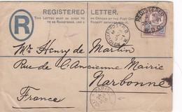 Env Recommandé Ob Oxford 23 JA 91, Env Pour Narbonne - 1840-1901 (Victoria)