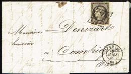 A2-N°3c  Gris Noir  Sur Lettre Signé Roumet Sup - 1849-1850 Ceres
